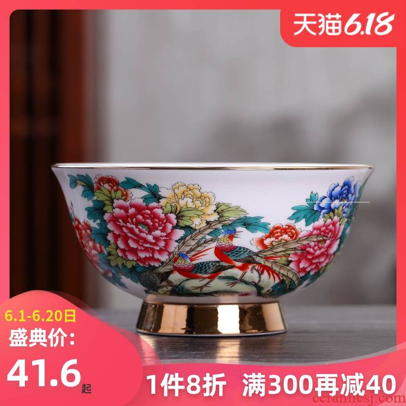 Jingdezhen ceramic rainbow such as bowl with large ramen noodles bowl of soup can prevent iron high single ipads China mercifully rainbow such use