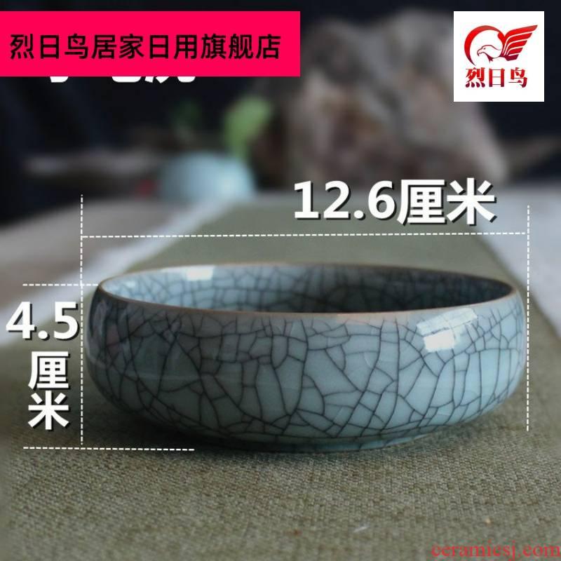 Large celadon have kung fu tea tea ceramic tea wash to wash cup four treasures writing brush washer faceplate ashtray