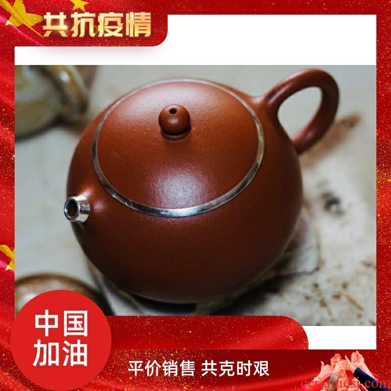 Cracking gold and silver inlaid spout repair maintenance repair repair copper cap, curium porcelain ceramic tea - pot pot