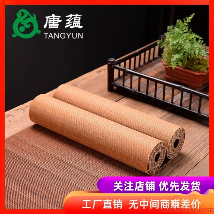 Tea accessories cloth mat mat table flag Tea Tea cloth household cloth banner zen Tea kettle as table mat