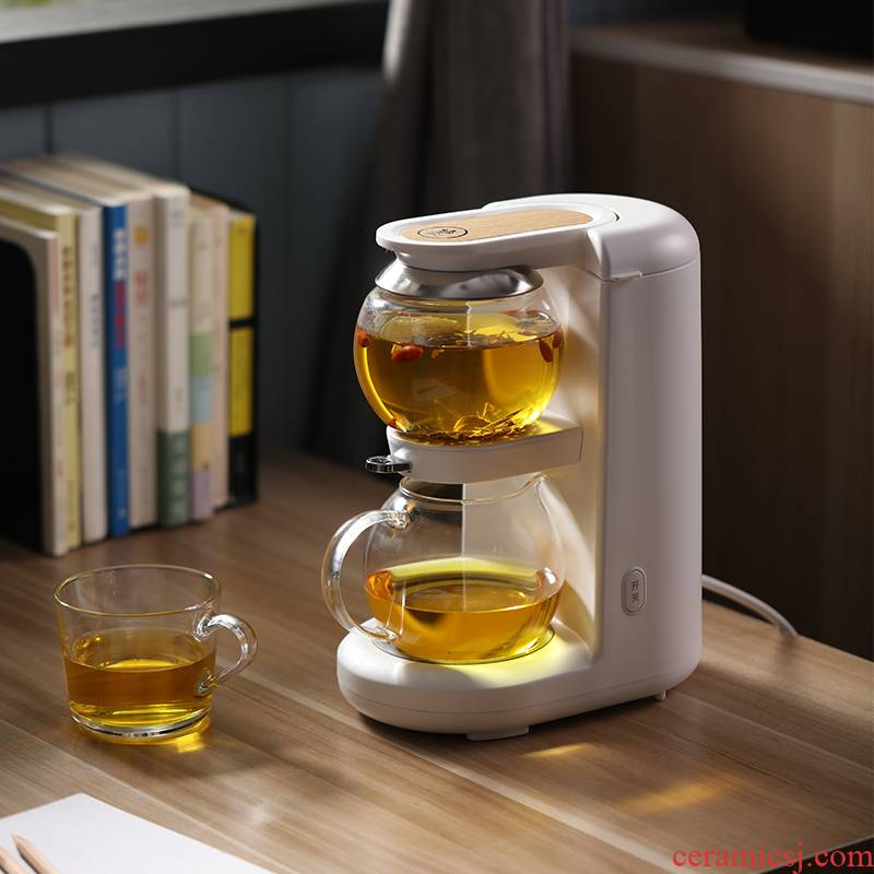 Sound light boiling tea machine hourglass curing pot of automatic household multi - functional office small glass teapot tea sets