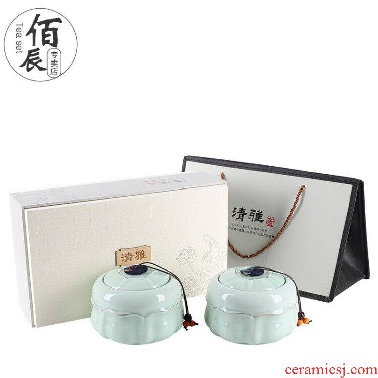 Tea packaging gift box ceramic Tea pot general green Tea, black Tea pu - erh Tea POTS sealed as cans empty box customization