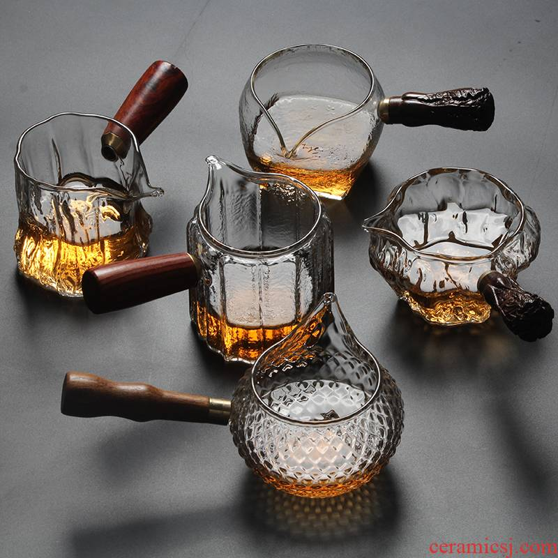 Fair keller) hammer heat - resistant glass cup lateral points of tea tea sea is kung fu tea tea with tea