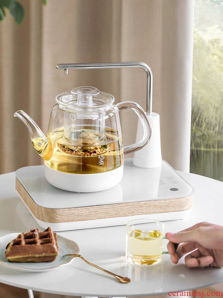 Water boiled tea ware home office on lamp automatic tea kettle small tea pot pot set furnace