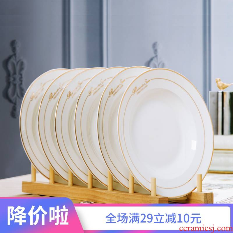 Ceramic creative household contracted the new plate dish dish dish dish fish steak dinner plate dishes suit