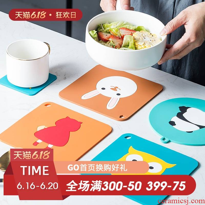Fiji trent table MATS heat resistant against the hot tea cup mat household kitchen waterproof and oil heat the food bowl as pad