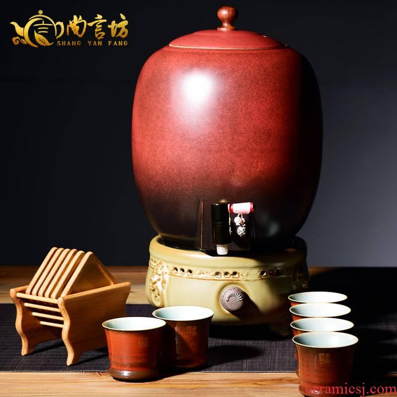 It still fang wen receives a warm tea ware ceramic boiled tea, the tea stove temperature steam mercifully kung fu tea set
