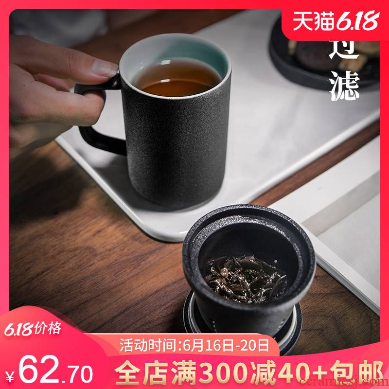 Branch office with cover large filter cup tea cup keller separation ceramic cups of tea a cup of tea cups