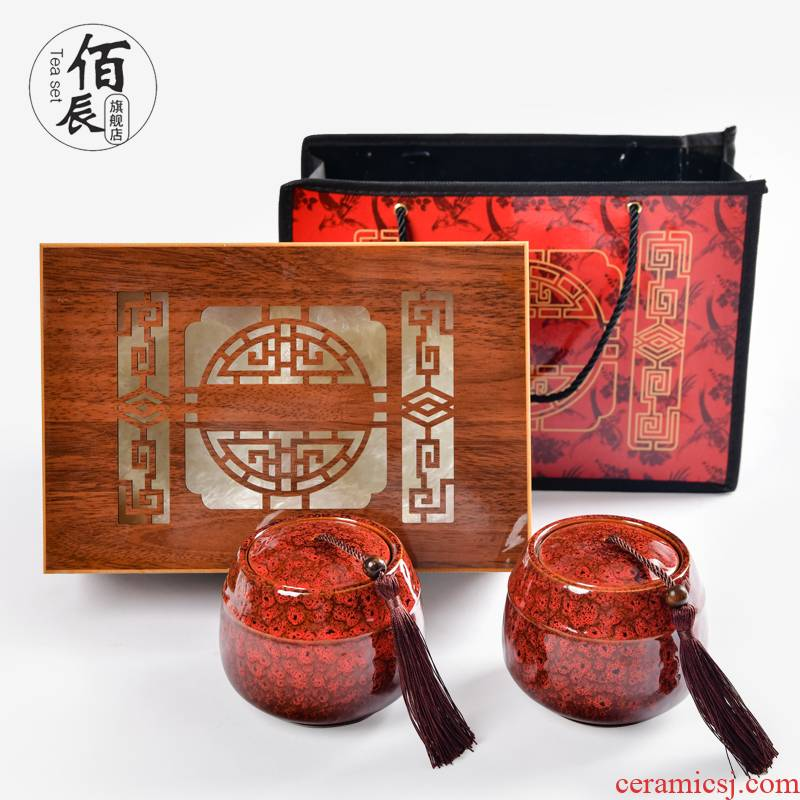 Tea packaging gift box box aneroid ceramic pot of pu 'er Tea tieguanyin Tea POTS sealed as cans of Tea boxes
