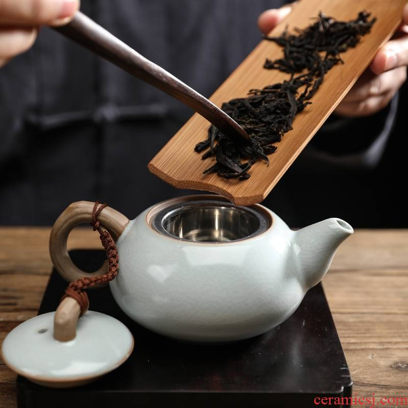 Your up filter ceramic teapot single pot of domestic large kung fu tea set with built - in filter capacity of black tea tea
