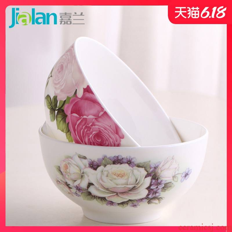 Garland creative household ipads bowls 4.5/5 inch large high anti hot baby rice tableware ceramic bowl