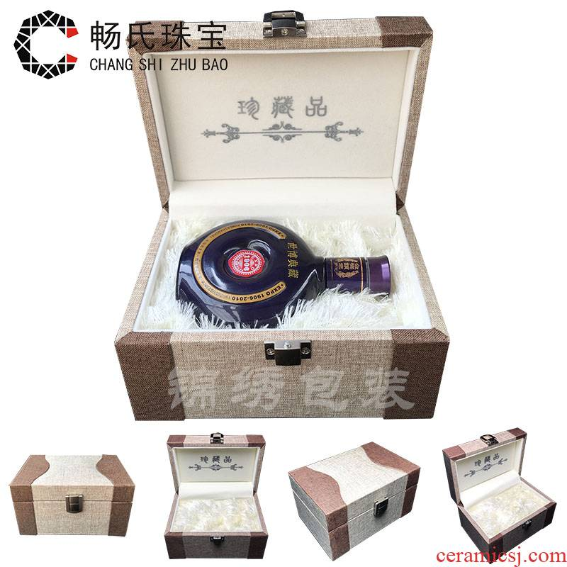 A large wooden JinHe porcelain collectables - autograph collection box with furnishing articles of gift box carved pieces of jewelry linen box