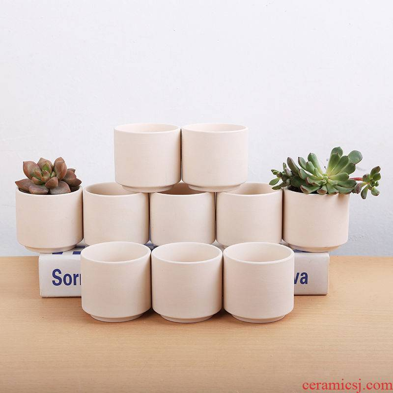 Thumb basin 9.9 package mail more than 10 meat cooks, DIY can hand - made ceramic flower POTS, coarse pottery basin of green plant meat basin clearance