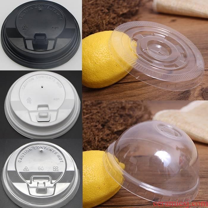 One - off lid milk tea coffee cup lid coke lid cross flat cover general, 500, 89, 90 diameter