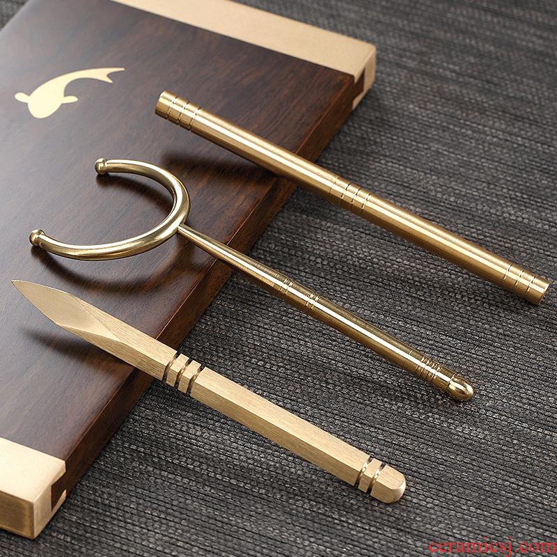 Morning high kung fu tea accessories pry dao pu 'er tea cups fork puer tea special tea ChaZhen awl