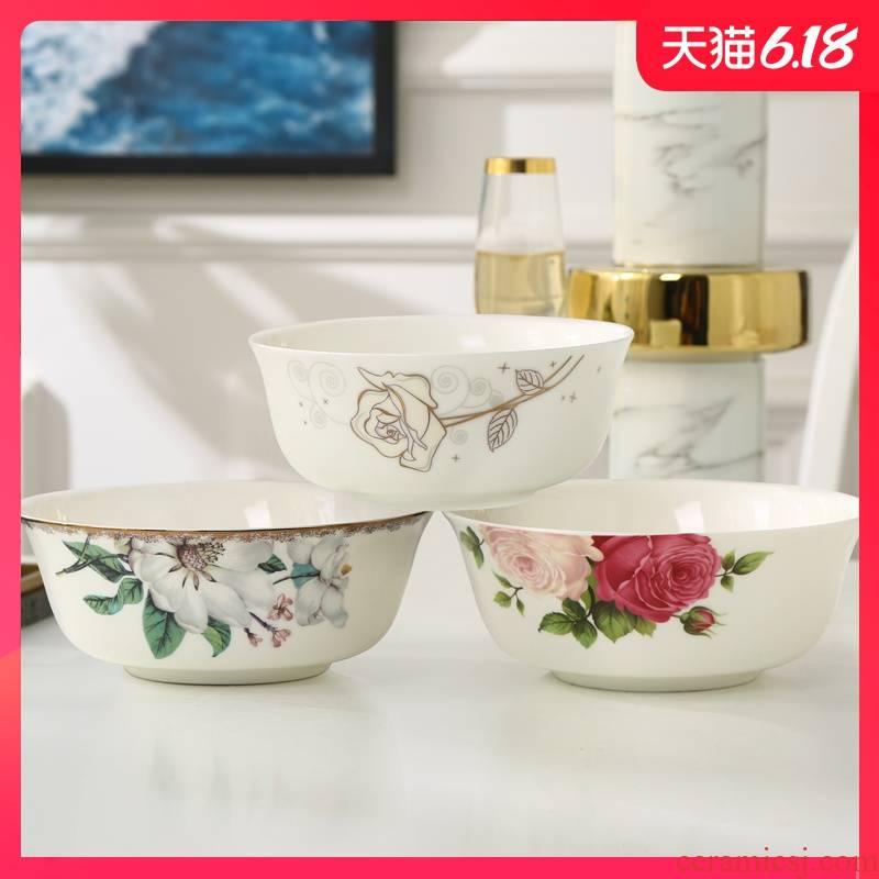 Garland ipads China rainbow such use 5 inches large rice bowls salads pasta creative household ceramics tableware soup porridge