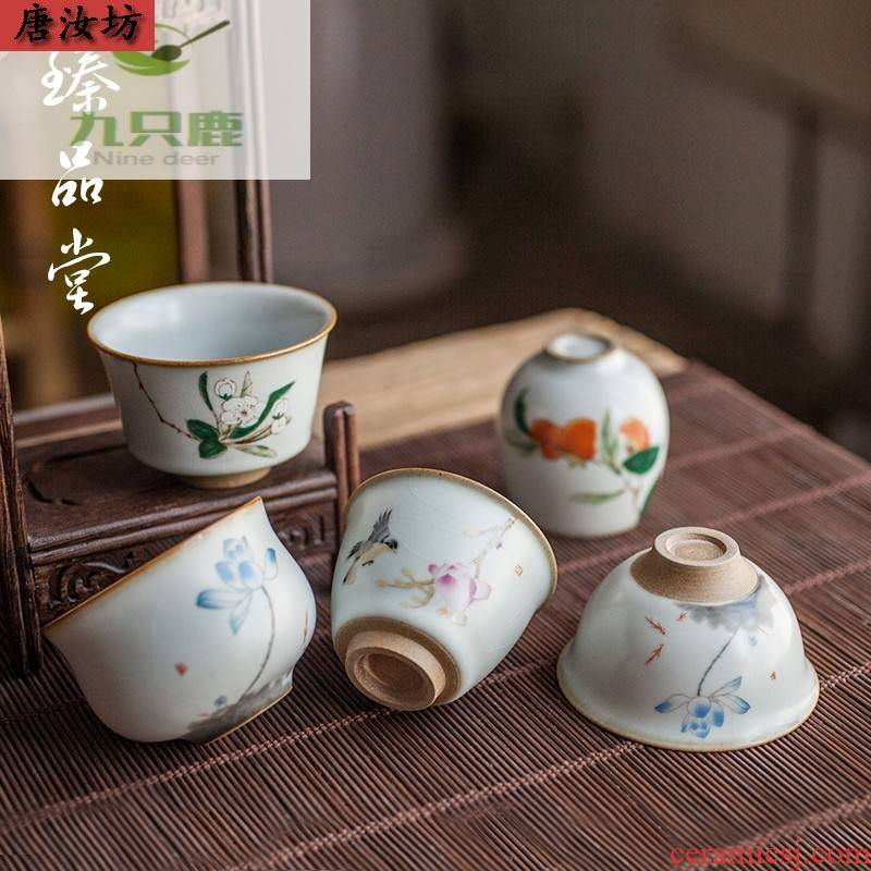 Restore ancient ways your up size cups of kung fu tea set personal single cup your porcelain pieces of glass