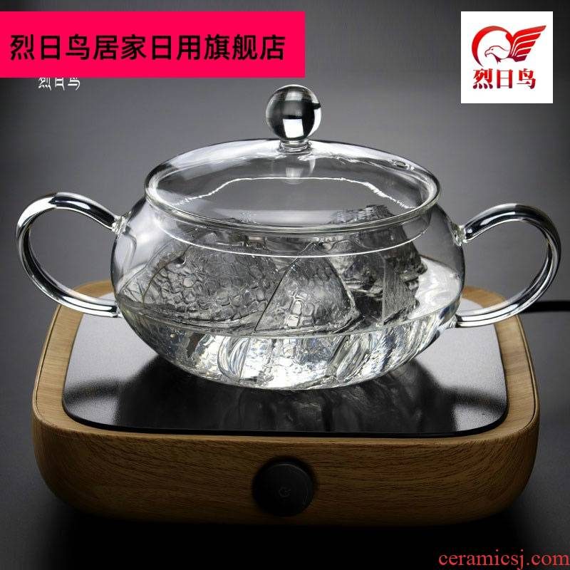 Transparent glass tea wash to electric TaoLu boil sterilization pot with cover large cups to wash basin of kung fu tea tea tea