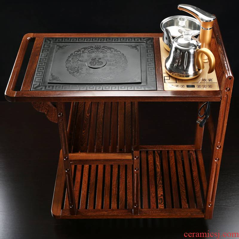 Household contracted mobile car tank automatic water induction cooker tea tea tea set suit small sitting room tea table stone plate