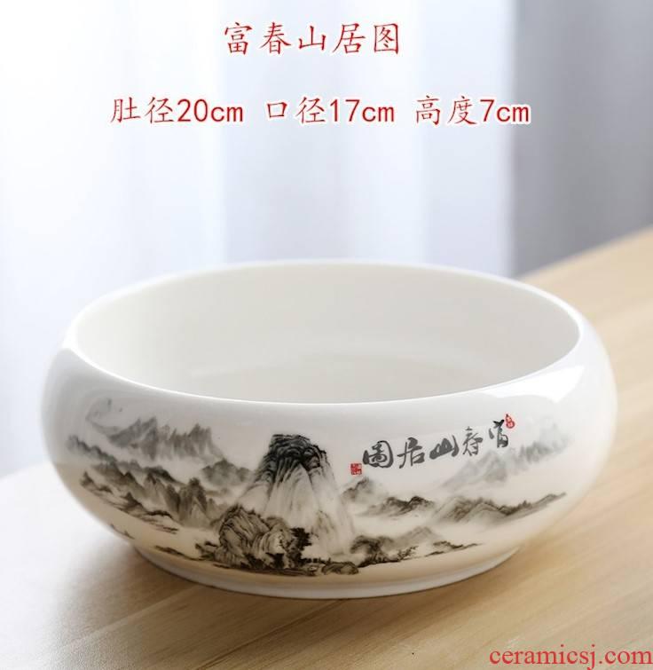Tea pot large ceramic bowl Tea Tea is Tea wash bowl washing utensils kunfu Tea wash to wash cup of cup
