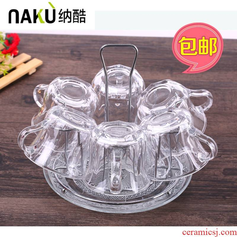, cool suit European with household glass glass cup upset heat - resistant cup with transparent glass of water