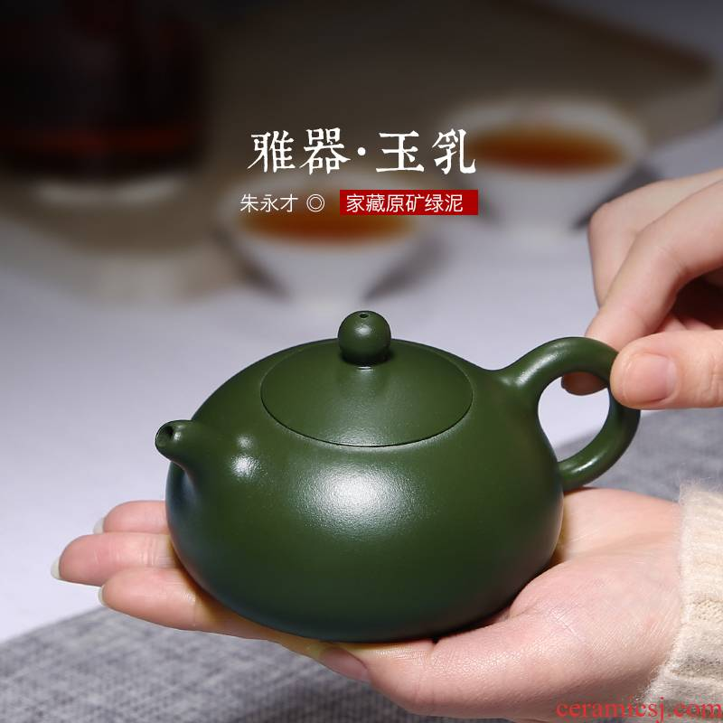 Mingyuan tea pot by pure manual rare ore chlorite yixing teapot it kung fu tea set
