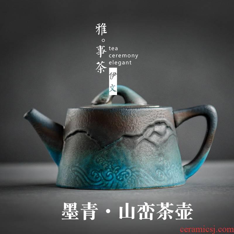Evan ceramic teapot office filtering small single pot of Japanese tea taking kung fu tea tea kettle coarse pottery making tea