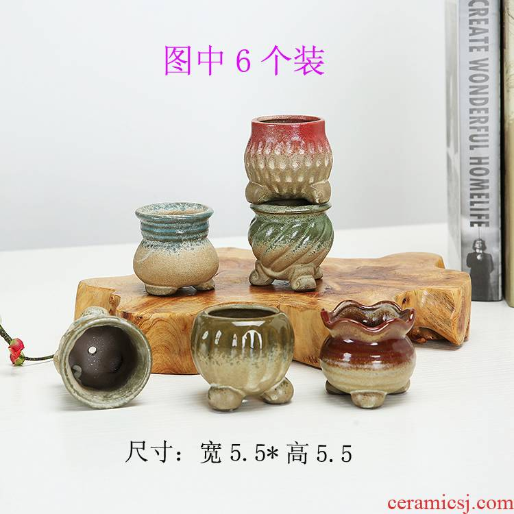 The Clear ideas in large diameter small fleshy meat meat the plants thumb flower pot, household flowerpot ceramic sale
