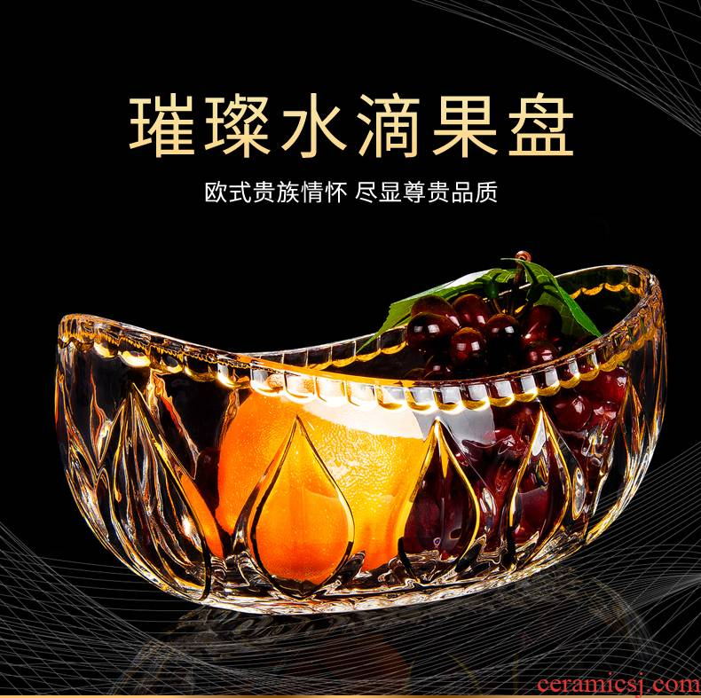 Fruit compote modern creative home sitting room tea table European glass Fruit bowl dried Fruit tray snacks candy dishes