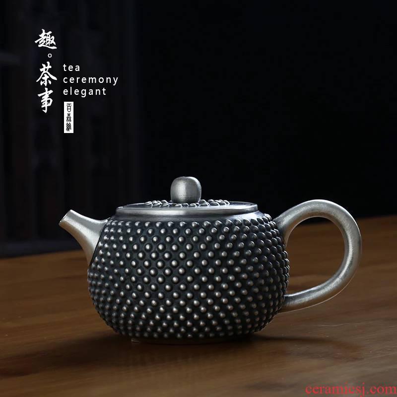 Babson sterling silver 999 d silver pot kettle kung fu tea tea pure manual fine silver trumpet teapot household