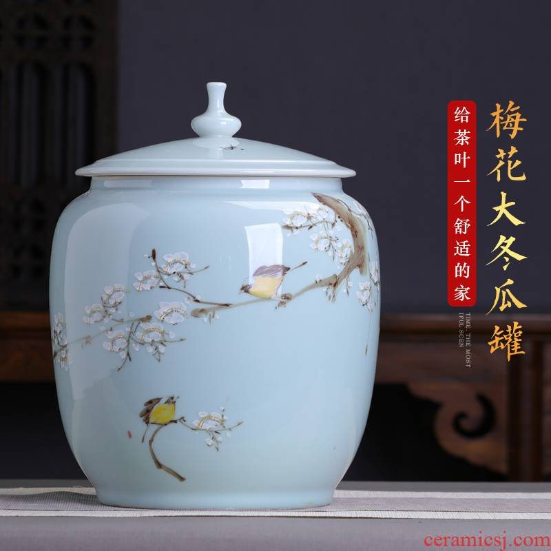 5 jins of white tea ceramic tea pot a large sealed as cans to heavy large pu - erh tea cake store receives the seventh, peulthai the household