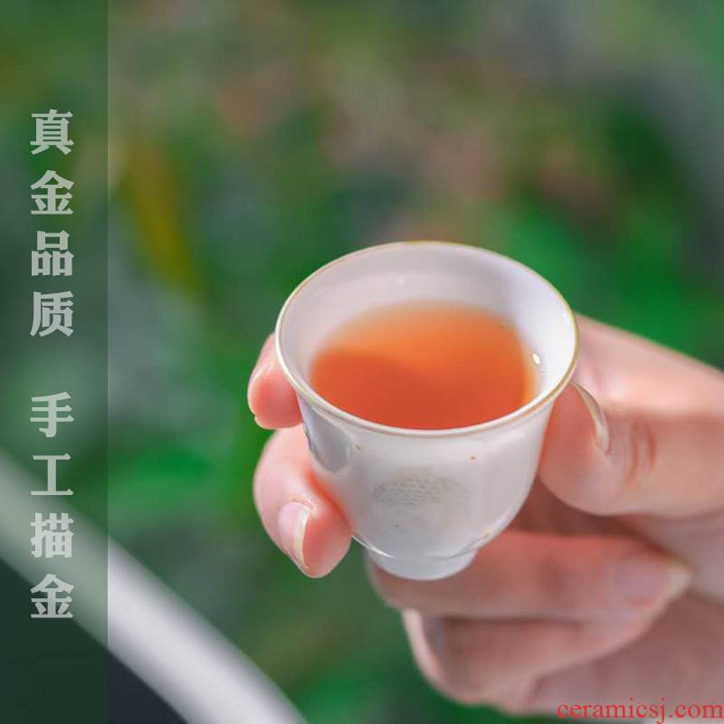 The Escape this hall sample tea cup jingdezhen ceramic single master kung fu tea cups of noggin single cup suit fragrance - smelling cup