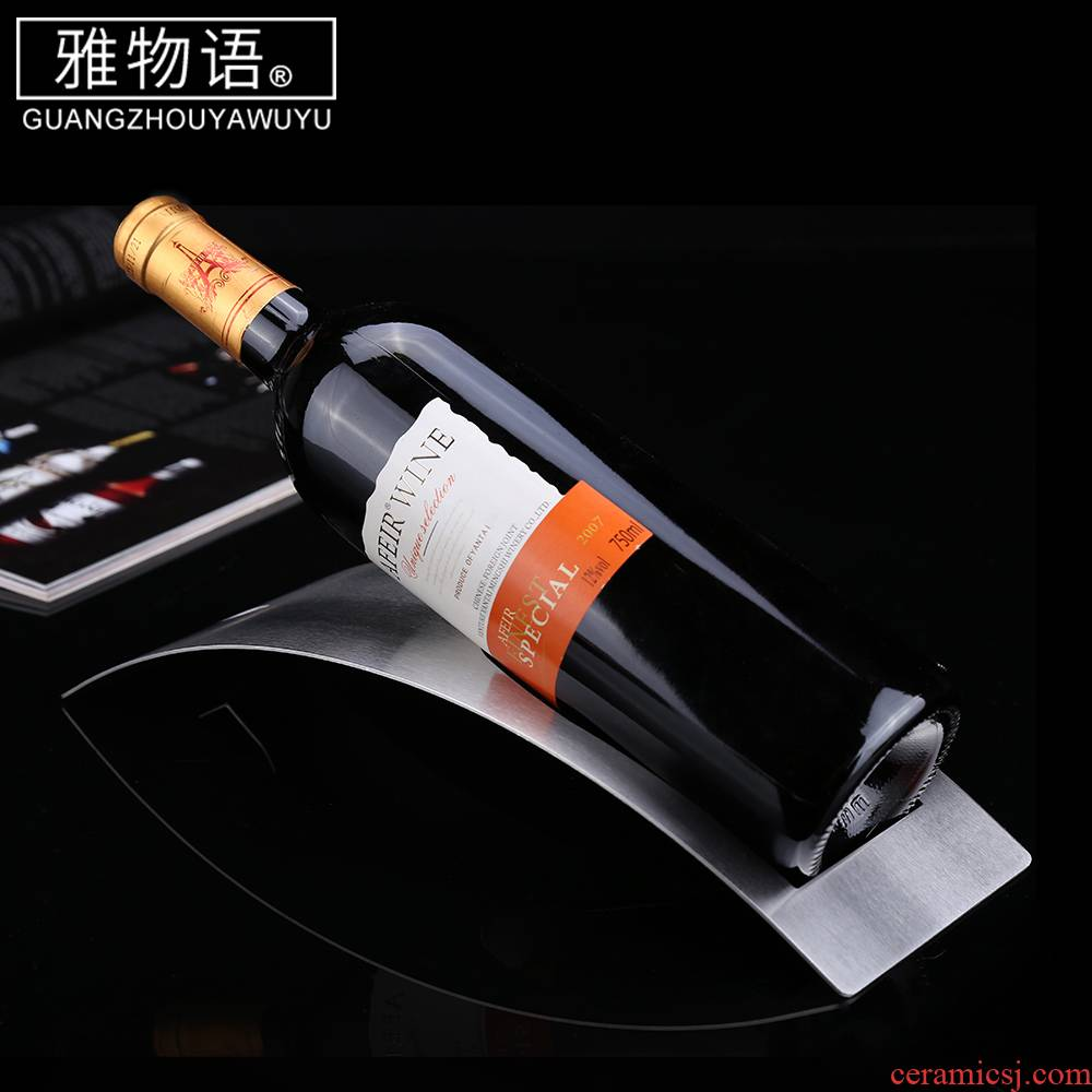 Elegant wine rack monogatari stainless steel arch bridge, furnishing articles creative display bottle home European wine rack