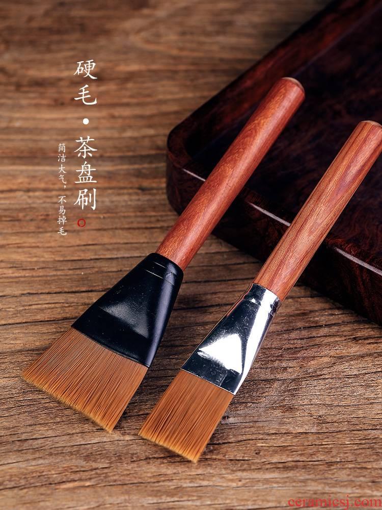 Ken shun ke kung fu tea tray with water to remove hair real wood tea tea with parts of bristles YangHuBi household
