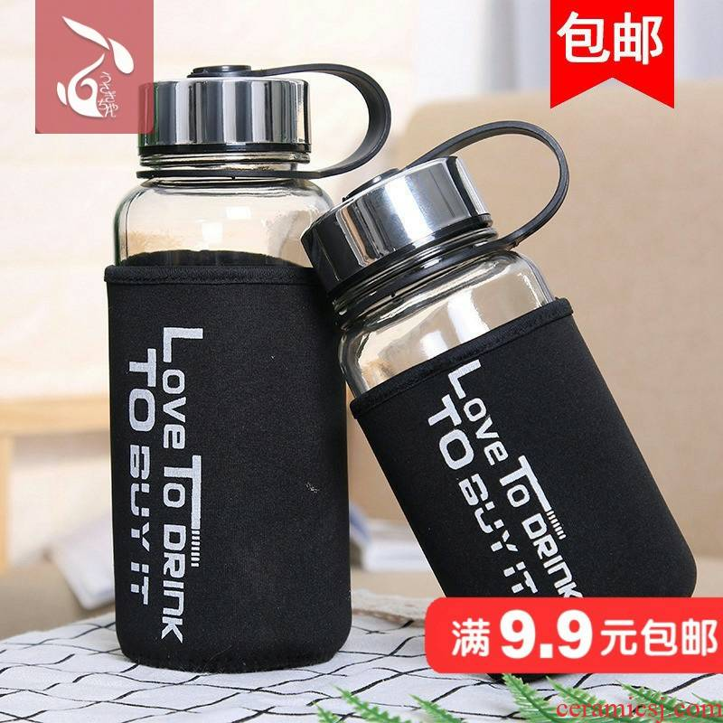 Men with cover glass cup space cup portable large capacity cup children prevent hot tea cup with a cup of office