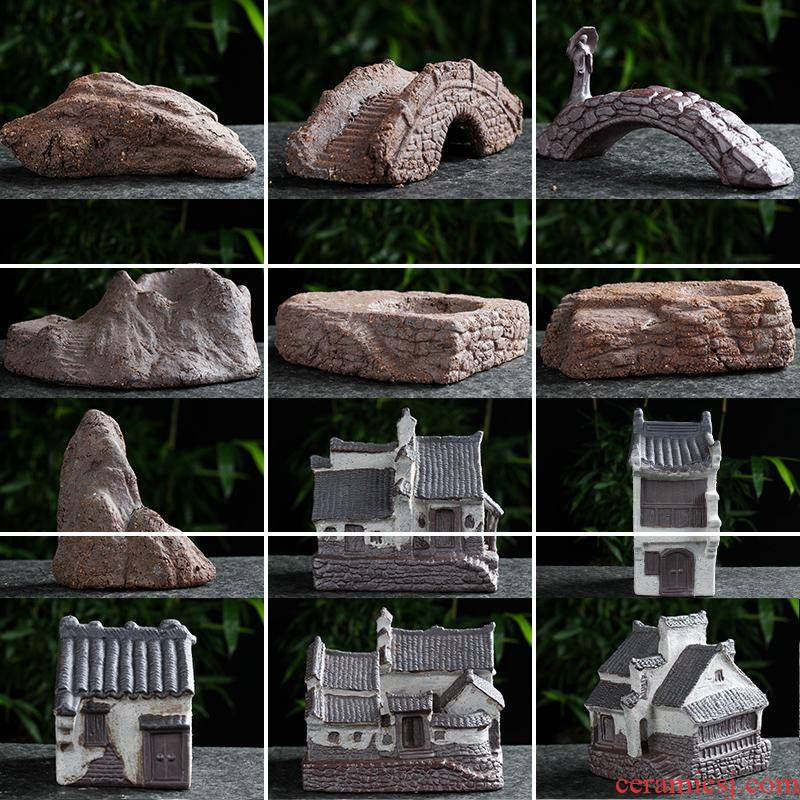 Creative bibulous porcelain restoring ancient ways furnishing articles jiangnan garden flowerpot landscape gardening, fleshy parts water exchanger with the ceramics decoration