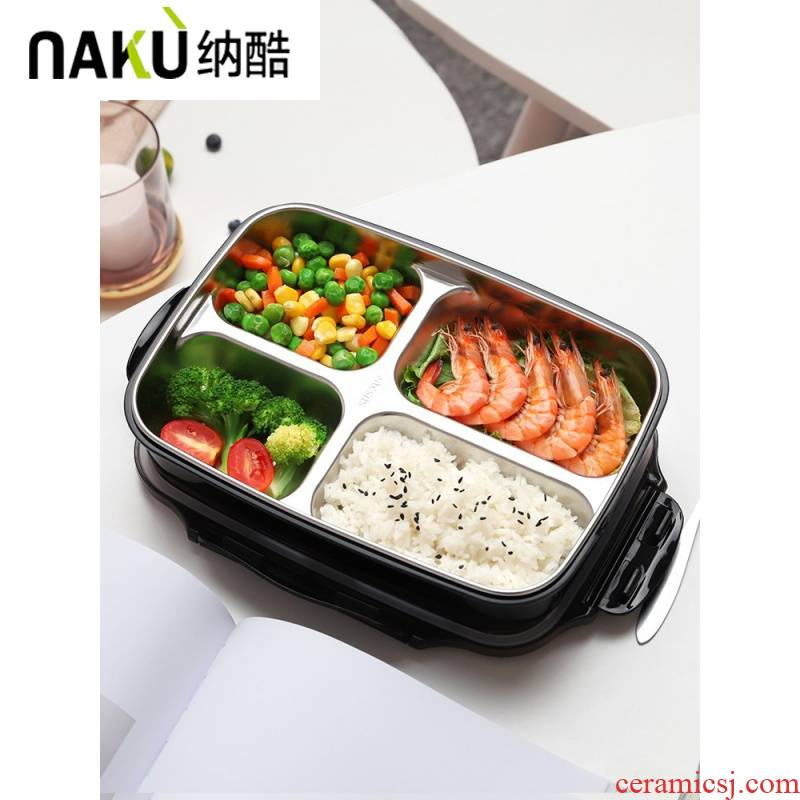 Red lunch box, cool suited to add network student canteen workers high school girls heart, lovely ceramic insulation reduction