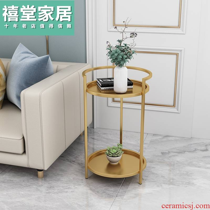 Nordic coffee table, side table Angle of what small family sitting room sofa marble edge contracted and I bedside table province space