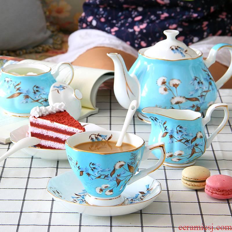 English afternoon tea tea set suit European style coffee ipads porcelain cup household ceramic teapot gift box