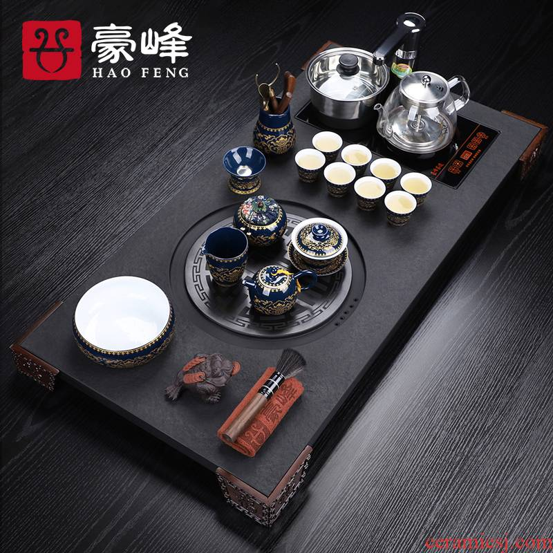 HaoFeng sharply stone tea tray was kung fu tea set automatic water tea kettle body induction cooker household