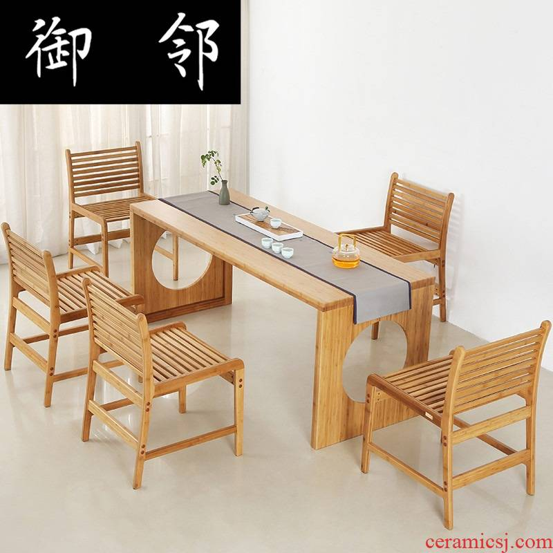 Make tea tea tables and chairs contracted modern bamboo furniture combination furniture suite leisure tea table of tea tea table space