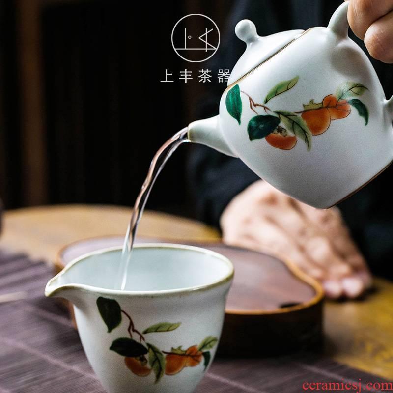 Feng ru up single pot on the teapot can raise your porcelain ceramic tea filter kung fu tea teapot