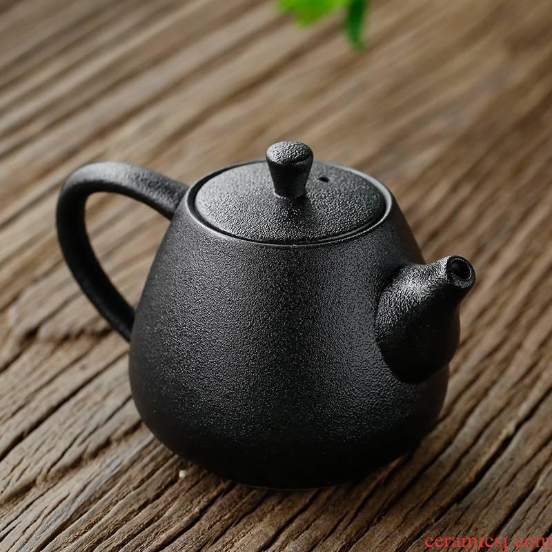 The sea make home office black pottery single pot xi shi small teapot kung fu tea accessories make tea drinking tea pot