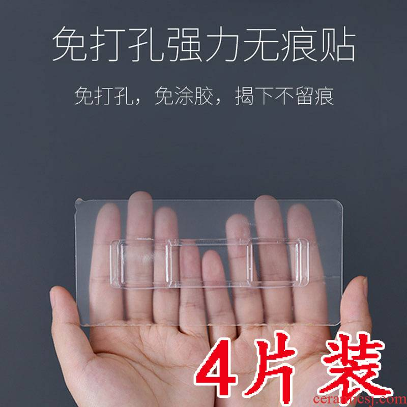 Wall tiles up strong hook tooth brush ceramic tile paste back glue shelf hook non - trace toilet