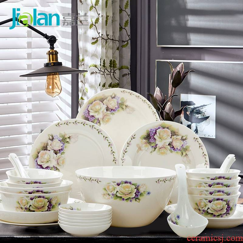 Garland 28 skull porcelain tableware suit ceramic tableware dishes plate suit practical gift combination that occupy the home
