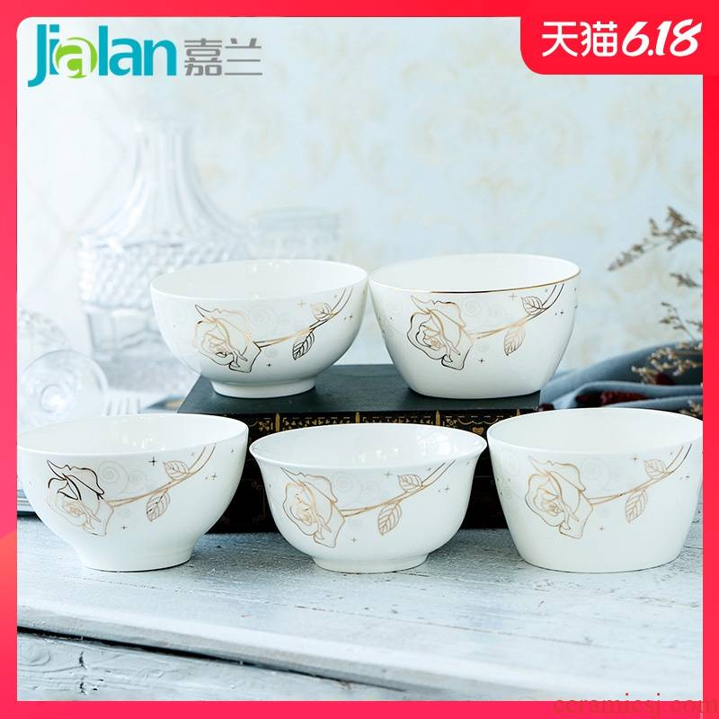 Garland ipads porcelain tableware ceramic large bowl of creative household rice bowls rainbow such as bowl soup bowl bowl combination salad bowl 's choice