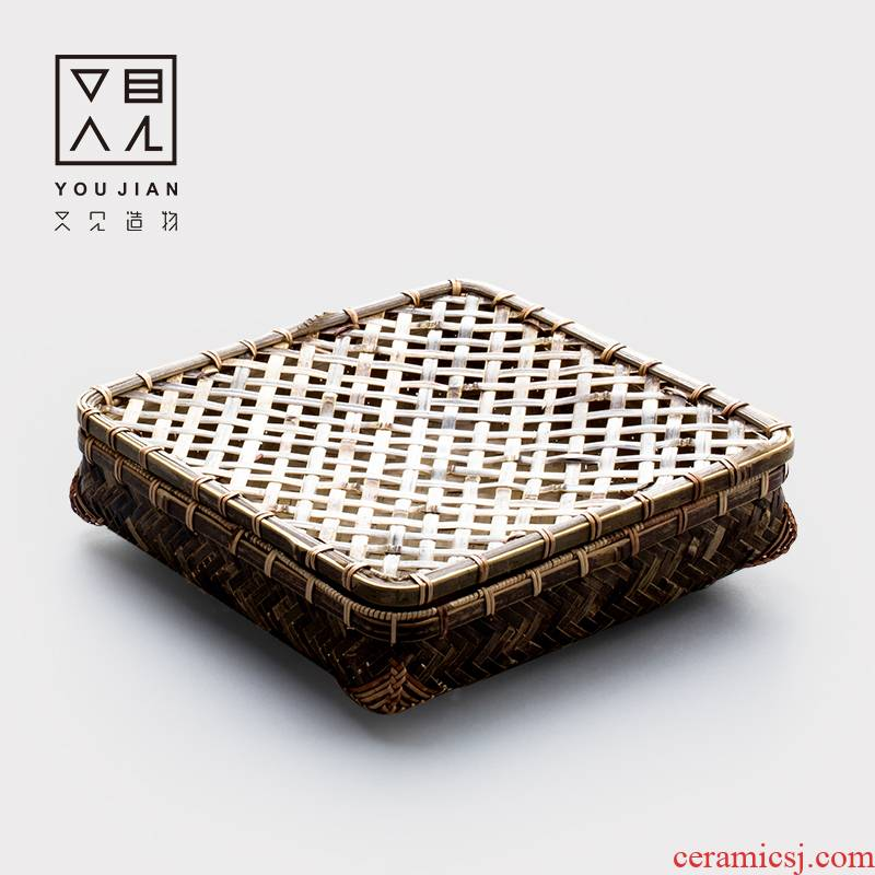 And creation of puer tea woven baskets of breathable bamboo basket to wake bamboo basket pu - erh tea box receive a box storage receive tea basket