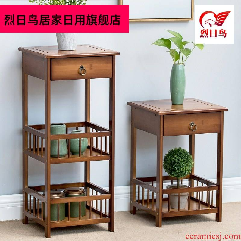 Put the tea cabinet Put the teapot tea leaves of multilayer shelf receive ark, shelf household small zen