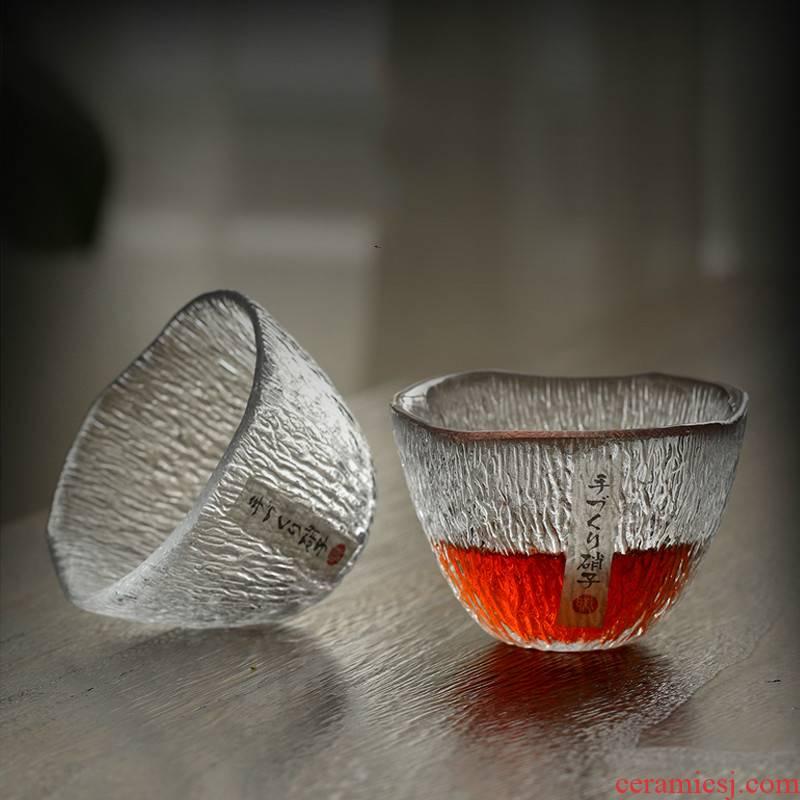 Large single master cup fine glass cup kunfu tea cup by hand hammer Japanese kunfu tea cup
