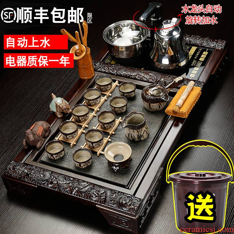 Sea step four one automatic ceramic kung fu tea tray was violet arenaceous tea cup home a complete set of tea set tea taking